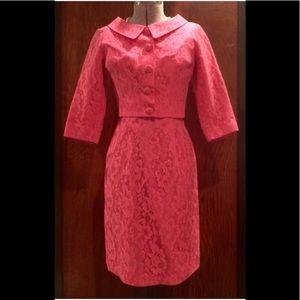 Rare SYLVIA ANN 1950's Dress & Matching Jacket Set